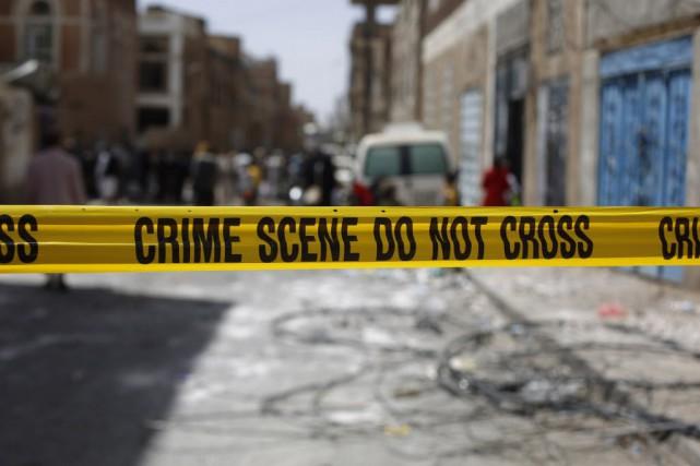 L'attentat revendiqué par l'EI a ciblé avant l'aube... (Photo Hani Mohammed, AP)