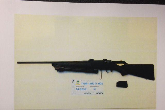 Outre une 30-06, un fusil de calibre 22-250...
