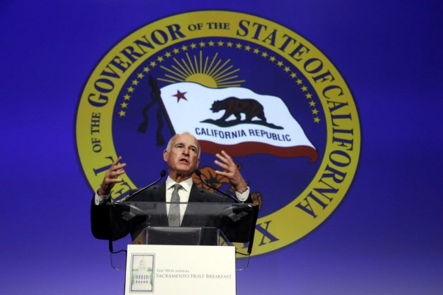 Selon le gouverneur Jerry Brown, la science démontre... (Photo Rich Pedroncelli, AP)