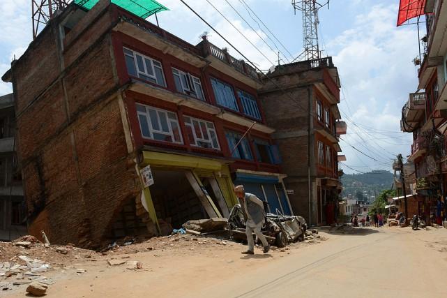 Le séisme au Népal du 25 avril dernier,... (PHOTO PRAKASH MATHEMA, ARCHIVES AGENCE FRANCE-PRESSE)