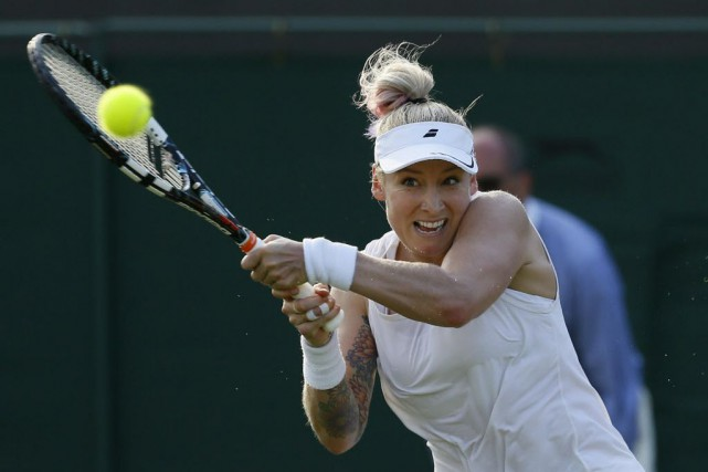 L'Américaine Bethanie Mattek-Sands.... (Photo Kirsty Wigglesworth, AP)
