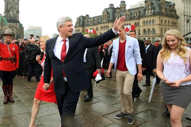 Le premier ministre Stephen Harper s'est rendu mercredi... (Photo Fred Chartrand, La Presse canadienne)