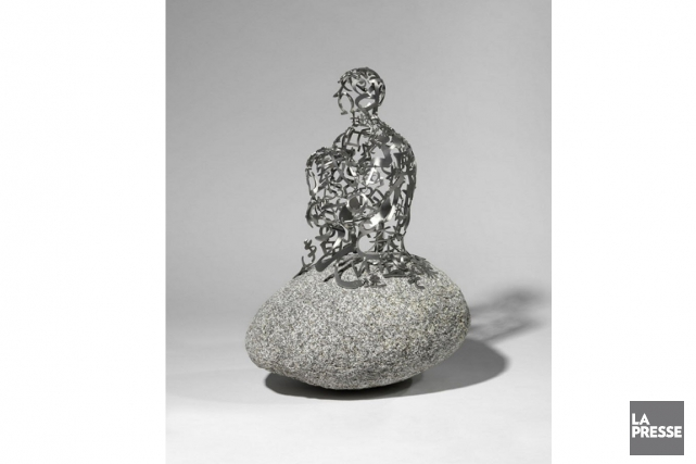 L'oeuvre Timekeeper du sculpteur catalan Jaume Plensa est... (Photo archives La Presse)