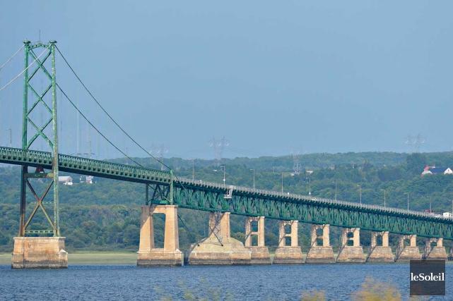 Les travaux qui seront réalisés sur le pont... (Photothèque Le Soleil, Pascal Ratthé)