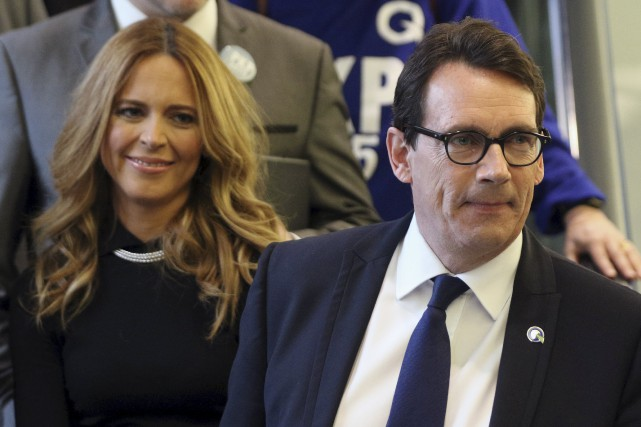 Pierre Karl Péladeau et Julie Snyder... (Photo archives Reuters)