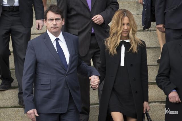 Pierre Karl Péladeau et Julie Snyder... (PHOTO IVANOH DEMERS, LA PRESSE)