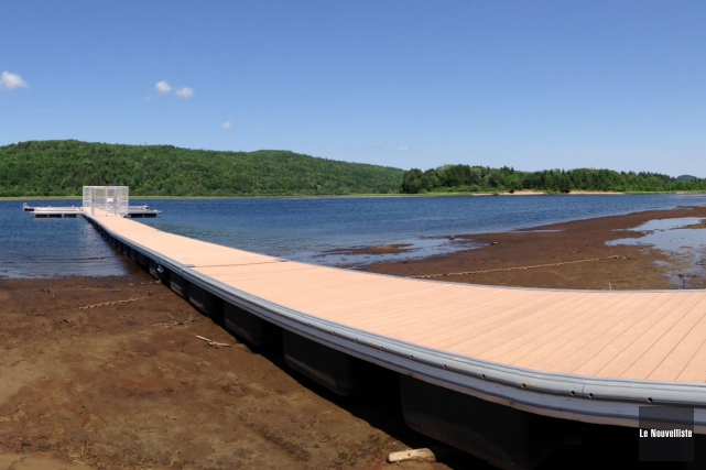 Hydro-Québec a accepté d'assurer un débit lors des... (Photo: Audrey Tremblay, Le Nouvelliste)