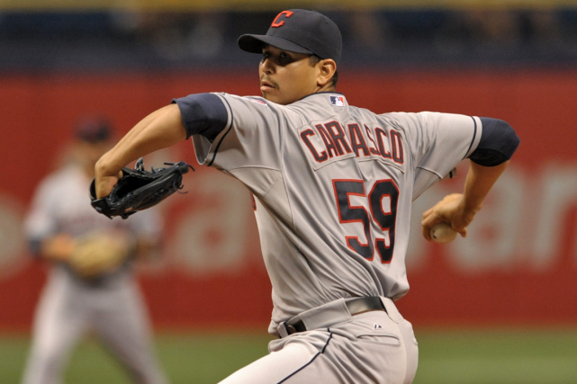 Carlos Carrasco... (Photo Steve Nesius, AP)