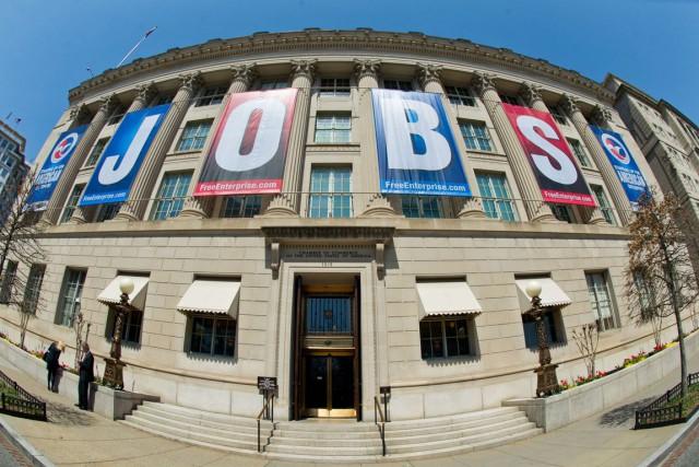 Le taux de chômage aux États-Unis est de... (PHOTO KAREN BLEIER, ARCHIVES AFP)