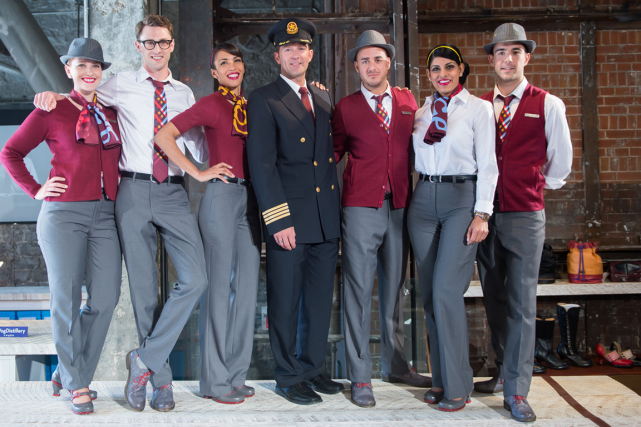 Uniformes de Rouge.... (PHOTO FOURNIE PAR AIR CANADA)