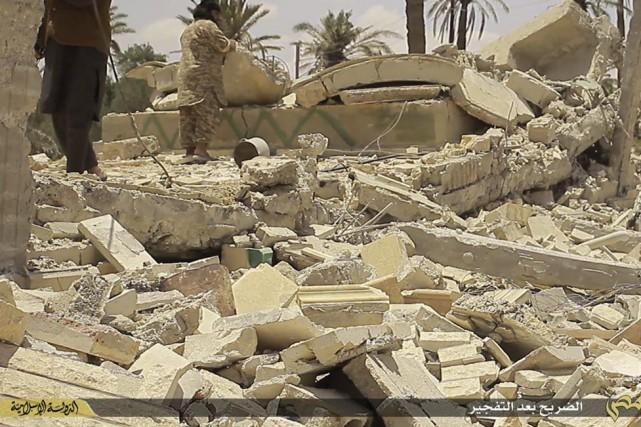 Fin mai, les djihadistes ont pris aux forces... (Photo tirée du site internet de l'EI / via AP)