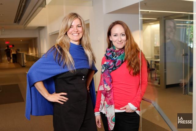 Les globe-trotteuses Ariane Harpin-Delorme et Marie-Julie Gagnon admettent... (PHOTO HUGO-SÉBASTIEN AUBERT, LA PRESSE)