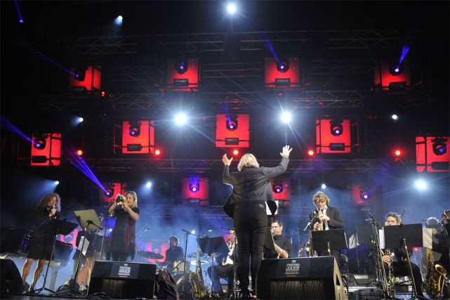 L'Orchestre national de jazz de Montréal en spectacle... (PHOTO VICTOR DIAZ-LAMICH, FOURNIE PAR LE FIJM)