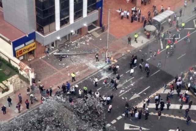 Selon les autorités, cette seconde explosion n'aurait pas... (Photo tirée de Twitter)