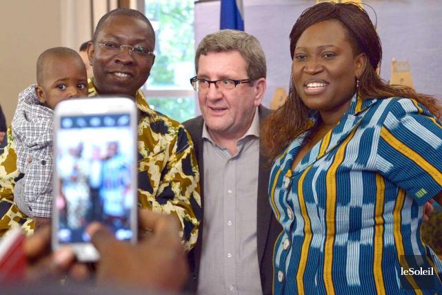 Régis Labeaume participait jeudi à une cérémonie d'accueil... (Le Soleil, Yan Doublet)