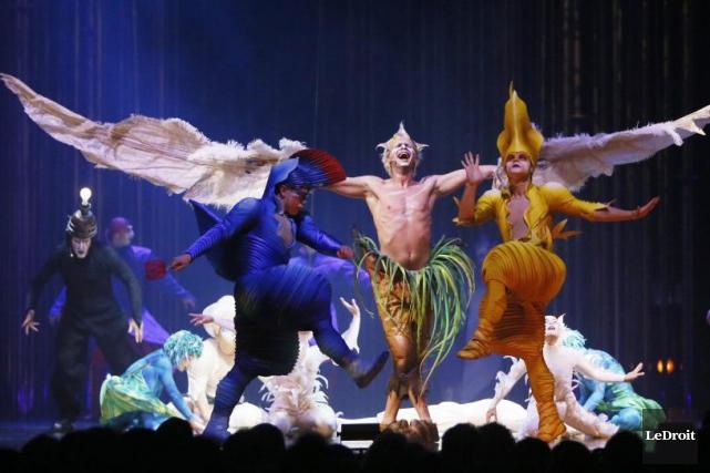 De ce Varekai, spectacle du Cirque du Soleil... (Photo de Simon Séguin-Bertrand, LeDroit)