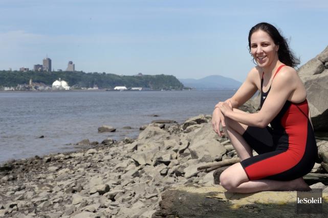 La nageuse Heidi Levasseur est à mi-parcours entre... (Photo: Le Soleil)