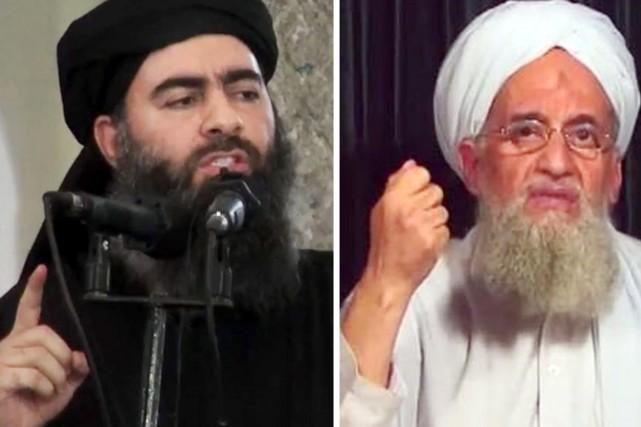 Le chef de l'EI Abou Bakr al-Baghdadi (à... (PHOTOS ARCHIVES AP/AFP)