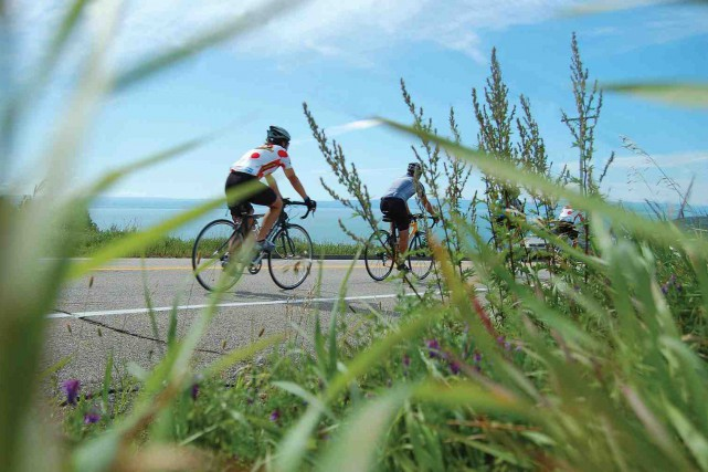 Les participants à la Petite aventure Desjardins de... ((Photo Vélo Québec))
