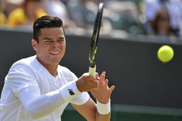 Raonic a conclu la rencontre avec 18 as,... (Photo Glyn Kirk, AFP)