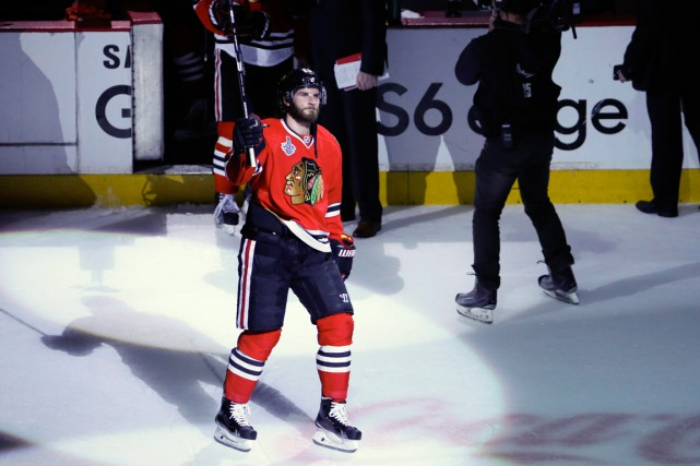 Brandon Saad a remporté la Coupe Stanley à... (PHOTO CHARLES REX ARBOGAST, PC)