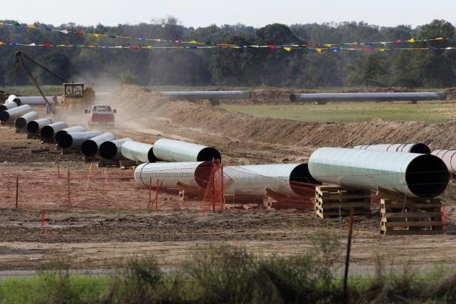 Énergie Est représente un mégaprojet pour acheminer du... (PHOTO TONY GUTIERREZ, ARCHIVES PC)