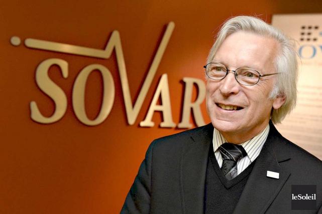 Le président-directeur général de SOVAR, Pierre Pedneau, se... (Le Soleil, Patrice Laroche)