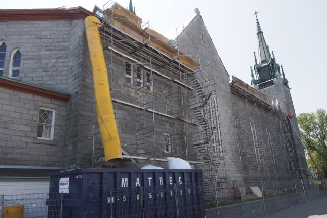 D'importants travaux sont en cours pour restaurer la... (photo Alain Dion)