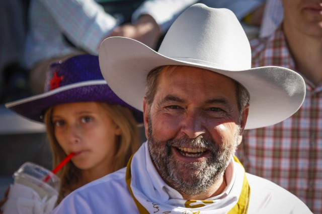 Le chef du NPD, Thomas Mulcair... (Photo Jeff McIntosh, La Presse Canadienne)