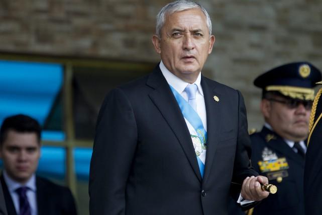 Le président guatémaltèqueOtto Perez... (Photo Moises Castillo, AP)