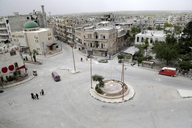 L'explosion est survenue dans la ville d'Ariha (photo),... (PHOTO ARCHIVES REUTERS)