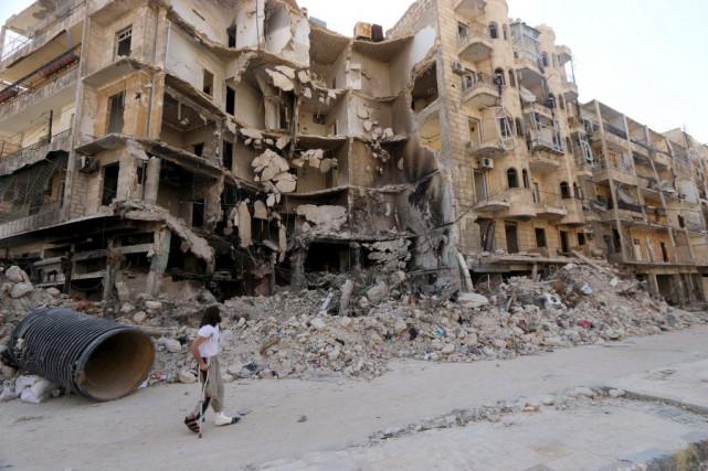 Alep est divisée depuis juillet 2012 entre secteurs... (Photo Abdalrhman Ismail, Archives Reuters)