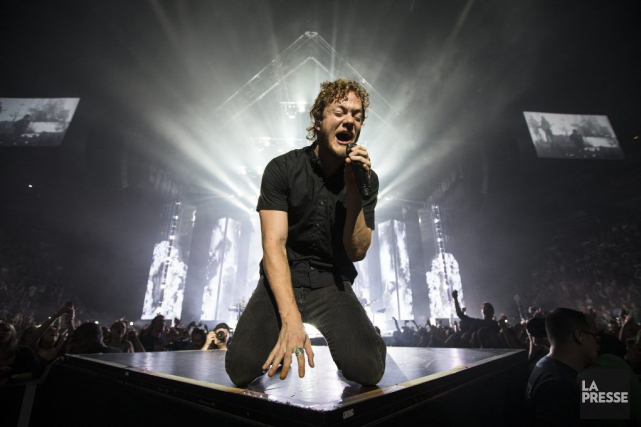 Le rock accrocheur d'Imagine Dragons et les effets... (Photo Édouard Plante-Fréchette, La Presse)