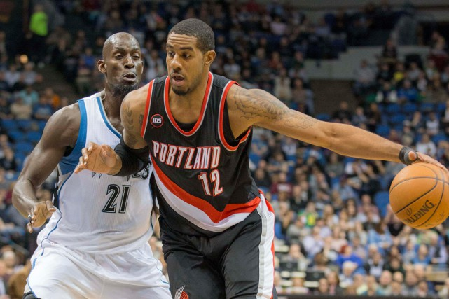 Âgé de 29 ans, LaMarcus Aldridge (12) a fait... (PHOTO JESSE JOHNSON, ARCHIVES USA TODAY)