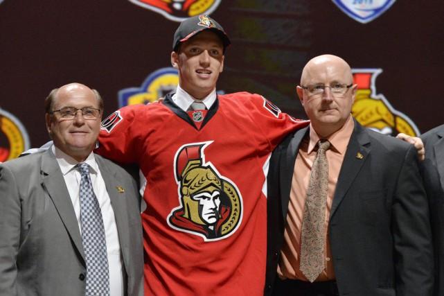 Le défenseur québécois Thomas Chabot, premier choix de... (Steve Mitchell, USA TODAY Sports)