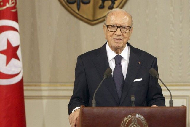 Le chef de l'État tunisien Béji Caïd Essebsi... (PHOTO ARCHIVES AFP / PRÉSIDENCE TUNISIENNE)