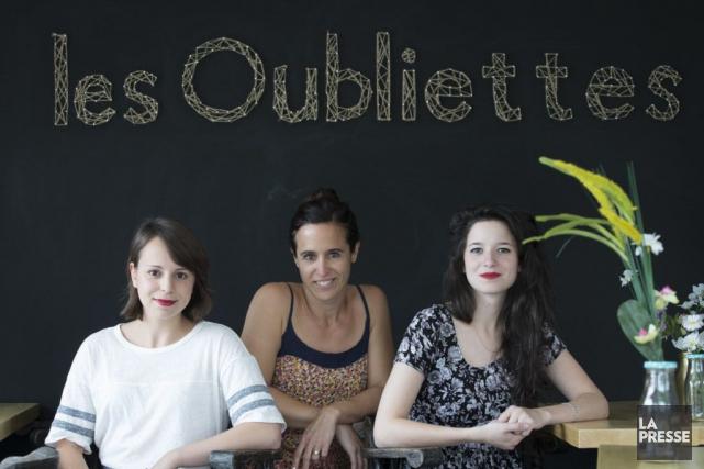 Camille Mongeau,Éloïse Corbeil et Corinne Fortin: les trois... (PHOTO IVANOH DEMERS, LA PRESSE)