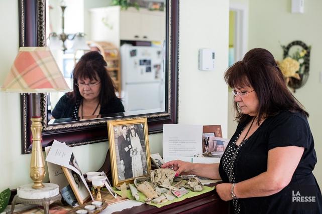 Lucie Raymond, dont le père est mort lors... (PHOTO EDOUARD PLANTE-FRECHETTE, LA PRESSE)
