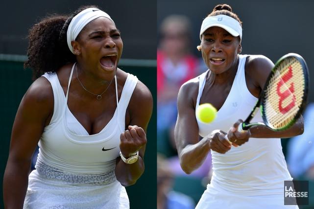 Serena et VenusWilliamscomptent toutes deux cinq titres en... (PHOTOMONTAGE LA PRESSE)