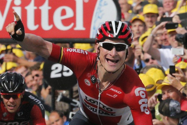 Andre Greipel... (PHOTO CHRISTOPHE ENA, AP)