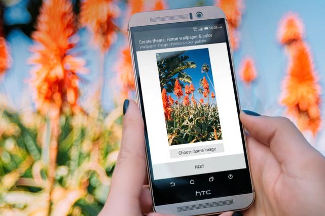Le téléphone HTC One M9...