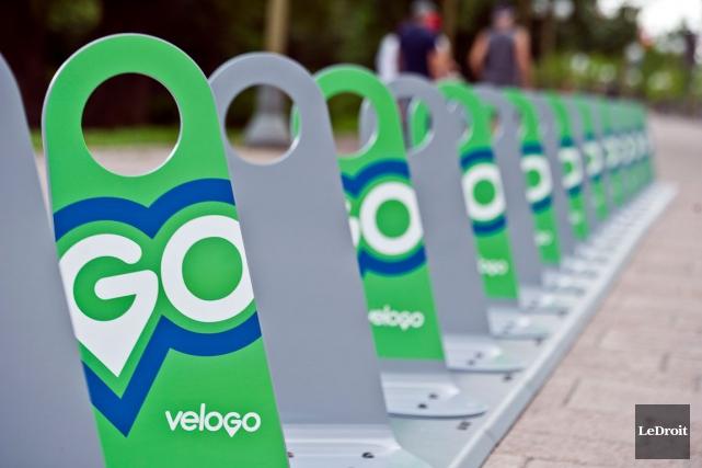 Les stations de vélopartage VéloGo ont récemment été installées dans la région... (LeDroit)