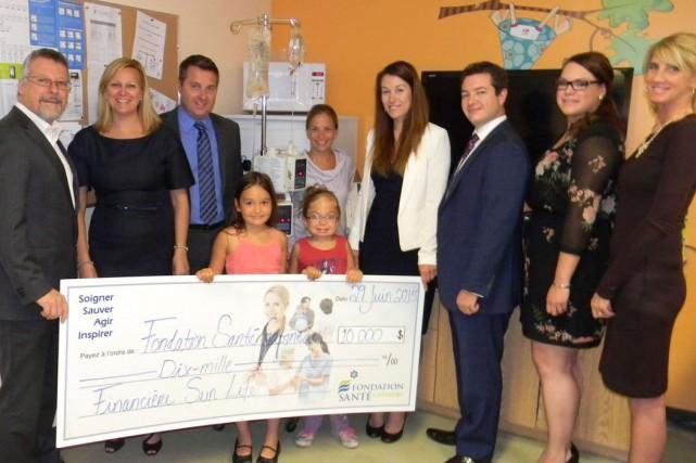 La Fondation Santé Gatineau a reçu un don de 10000$ de laFinancière Sun Life... (Courtoisie)