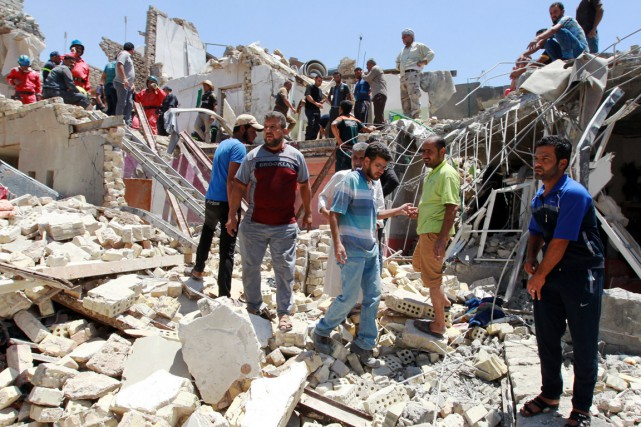 L'explosion, qui a eu lieu non loin de... (PHOTO SABAH ARAR, AFP)