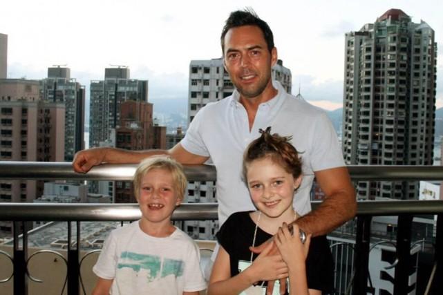 Martin Blondeau et ses enfants Vincent, 7 ans,... (PHOTO FOURNIE PAR MARTIN BLONDEAU)