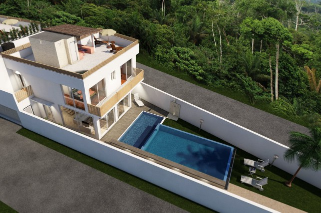 La maison Way aura sa propre piscine ainsi... (ILLUSTRATION FOURNIE PAR RIVIERA MAYA PROPERTY CONSULTANTS)
