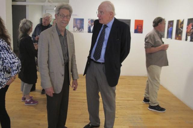 Les photographes Gabor Szilasi (à gauche) et Hank...