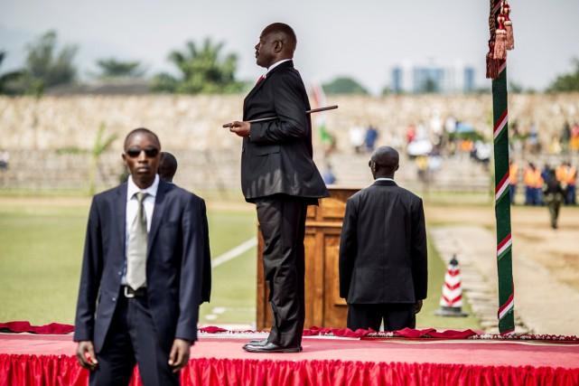 Le président Nkurunziza, lors des célébrations de la... (PHOTO MARCO LONGARI, ARCHIVES AFP)
