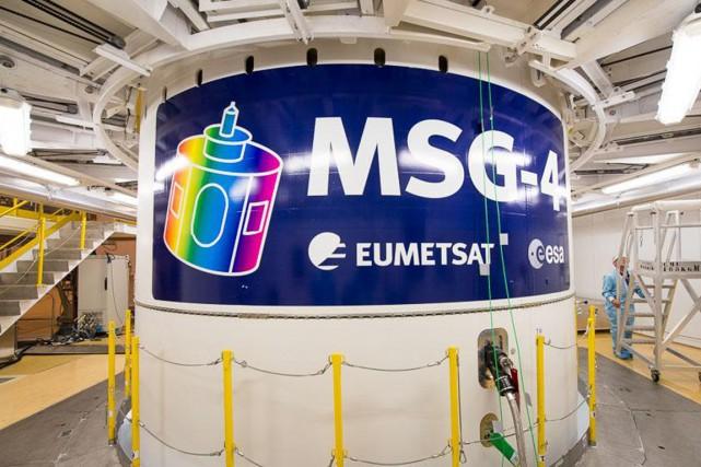 MSG-4 est le quatrième et dernier satellite Meteosat... (Photo tirée de Twitter)