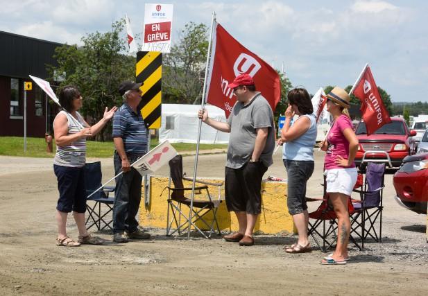 La grève chez Delastek entame son quatrième mois.... (PHOTO: STÉPHANE LESSARD)